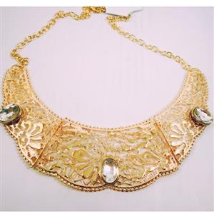 Gold toned beautifully designed with glamorous stoned necklace