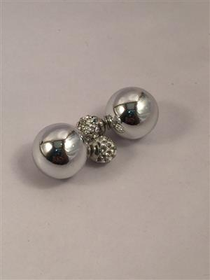 Silver toned very chic studs