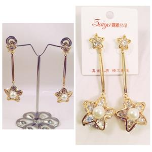 Star crsytal earrings