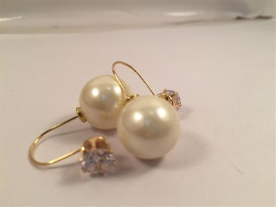 Pearls and crystal double trouble glamorous earrings
