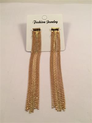 Long tassel earrings gold toned galmorous and stylish earrings