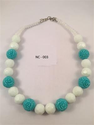 Blue and white theme beautiful necklace